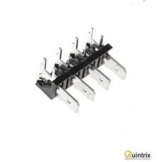 Conector spadã; 6,3mm; THT; 250V; în unghi 90°; 25A;4 piste
