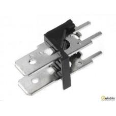 Conector spadã; 6,3mm; THT; 250V; drept; Raster:7,62mm;2 piste