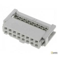 Conector IDC; mamã; PIN:16; pt.cablu-bandã; 1,27mm; Pas pini:2,5