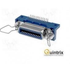 Conector Centronics mamă PIN:24;THT; în unghi 90°; 47mm