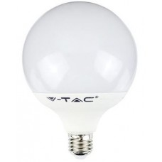 Bec LED 10W G95 E27 termoplastic Alb rece