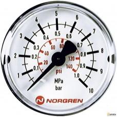 "Manometru BSP 1/8""- exterior; Presiune de funcţionare:0÷10bar"