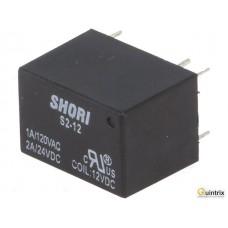 S2-12 Ubobină:12VDC; 1A/120VAC