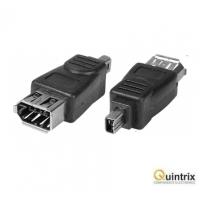 Adaptor Firewire IEEE 1394 6 pini, mama -> IEEE 1394 4 pini, tata