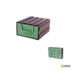 Modul cu sertar(105x120x60mm);Culoare sertar:verde