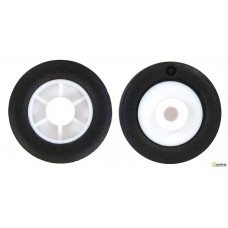 Ax Diam.:2mm; Ax: finã; negru/alb;cauciuc;Ø:14mm;W:4,5mm