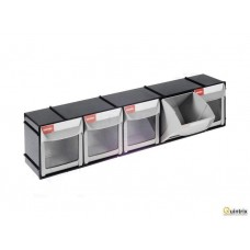Set cu containere;Nr cont.in modul:5; 0.8l; ABS