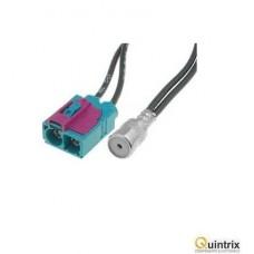 Adaptor antenã; ISO soclu, Fakra soclu x2; Audi, Seat,Skoda, VW