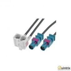 Adaptor antenã; Fakra mufã x2,Fakra soclu dublu; 0,25m; VW