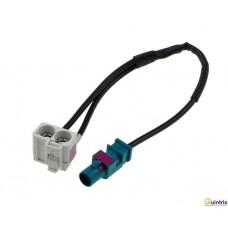 Adaptor antenã; Fakra mufã, Fakra soclu dublu;  Audi; RNS-E