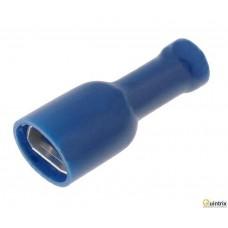 Papuc plat; 2,8mm; 0,8mm; mamã; 1,5÷2,5mm2;izolat complet;albast