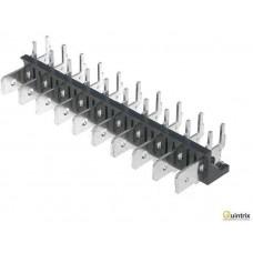 Conector spadã; 6,3mm; THT; 250V; în unghi 90°; 25A;10piste