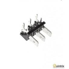 Conector spadã; 6,3mm; THT; 250V; în unghi 90°; 25A;3 piste