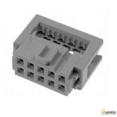 Conector  IDC; mamã; PIN:10; pt.cablu-bandã; 1,27mm; Pas pini:2,