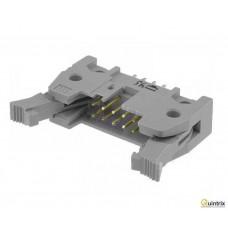Conector  IDC; tatã; PIN:10; drept; cu ejector; THT; 1,27mm