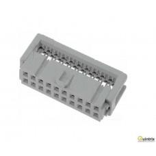 Conector  IDC; mamã; PIN:20; pt.cablu-bandã; 1,27mm; Pas pini:2,