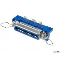 Conector Centronics;mamã; PIN:36; în unghi 90°; 60mm