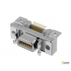 Conector MDR; PIN:14; ecranat; clichet
