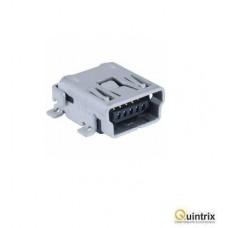 Mufa USB B mini; pentru PCB; SMT; PIN:5; orizontale
