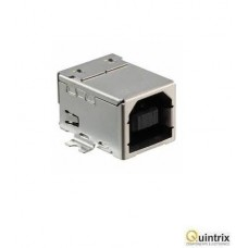 Mufa USB B; pentru PCB; SMT; PIN:4; orizontale