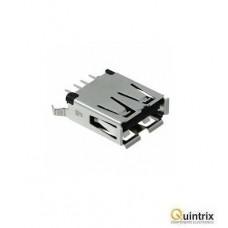 Mufa USB A; pentru PCB; THT; PIN:4; drept