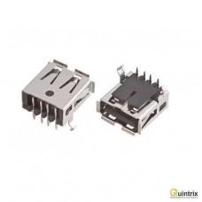 Mufa USB A; pentru PCB; THT; PIN:4; în unghi 90°