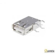 Mufa USB A; THT; lateral, în unghi 90°