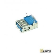 Mufa USB A 3.0; pentru PCB; THT; în unghi 90°;