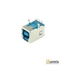 Mufa USB B 3.0; pentru PCB; THT; în unghi 90°; aurit