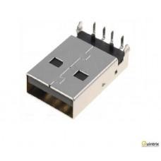 Mufa USB A; THT; în unghi 90°; 1,5A; Contacte: bronz-fosfor; 500