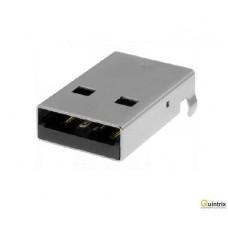 Mufa USB A; SMT; în unghi 90°; 1,5A; Contacte: bronz-fosfor; 500