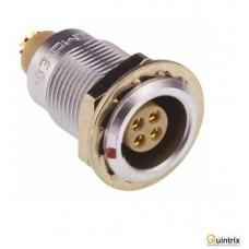 Conector circular; Serie:0B; lipire;montare pe panou;4 pini