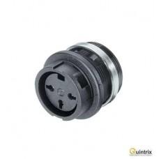 Conector circular; Serie: C091B; mama; PIN:3; IP40;soclu