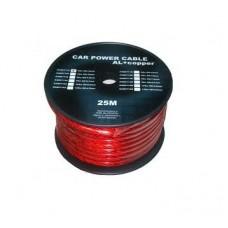 Cablu putere CU-AL 6GA (7.8MM/13.29MM2) roșu