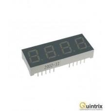 Afisaj LED cvadruplu cu 7 segmente 14mm/verde/anod