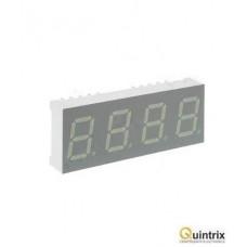 Afisaj LED cvadruplu cu 7 segmente 10mm/rosie/catod